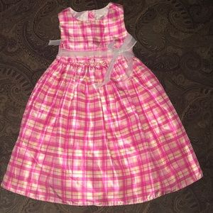 Girls Cherokee pinks plaid dress size 6